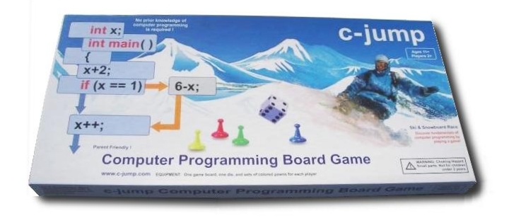 C-Jump Computer Programming Game Board